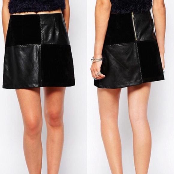 00dcb5f3f3 ASOS Skirts | Mink Pink Forever And Ever Mini Skirt Black | Poshmark